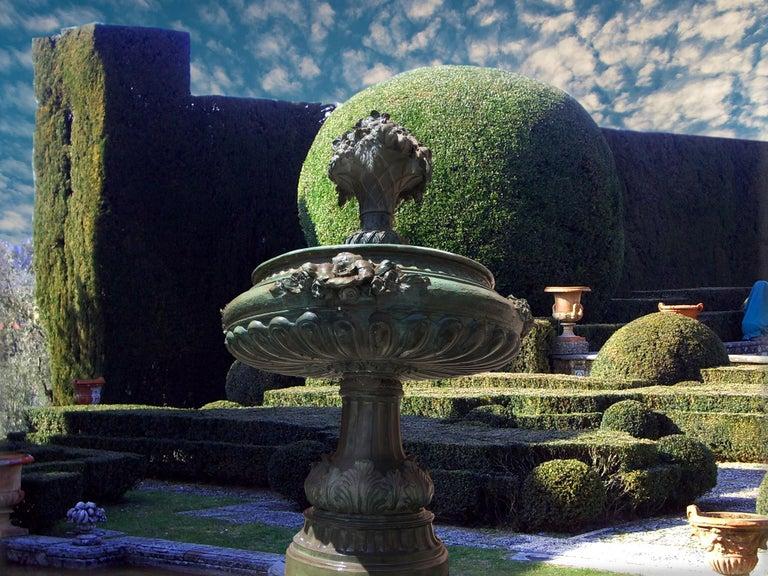 20th Century Italian Bronze Fountain For Sale