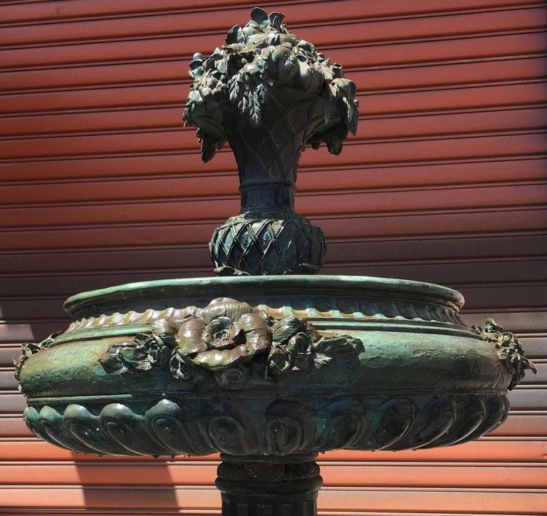 Italian Bronze Fountain For Sale 2