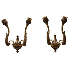 Italian Bronze Wall Sconces