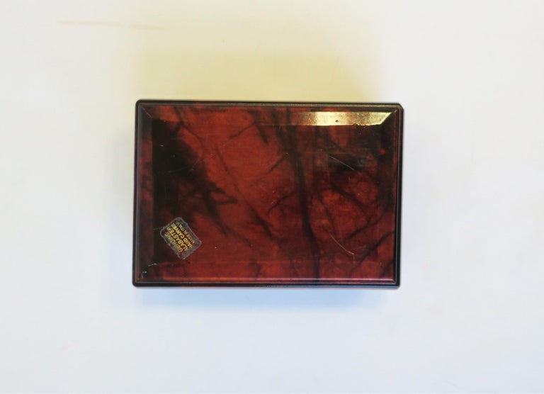 Italian Brown and Blue Alabaster Marble Jewelry Box For Sale 8
