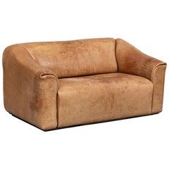 Italian Buffalo Light Brown Leather Sofa, Mod. DS 47 by De Sede, Svizzera, 1970s