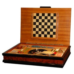 Italian Burl Game Box with original pieces