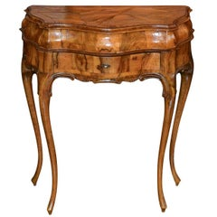 Italian Burl Walnut Side Table, circa 1920