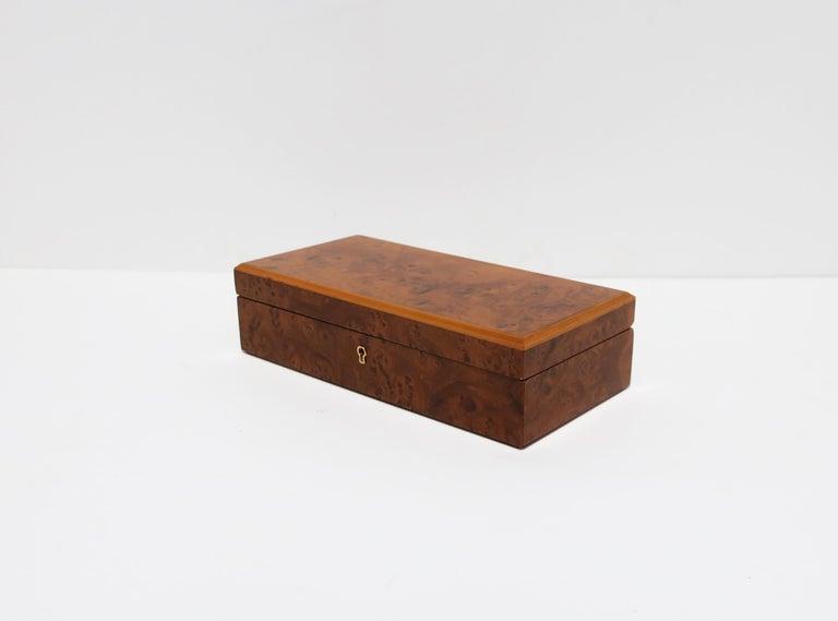 Italian Burl Wood Jewelry Box For Sale 8