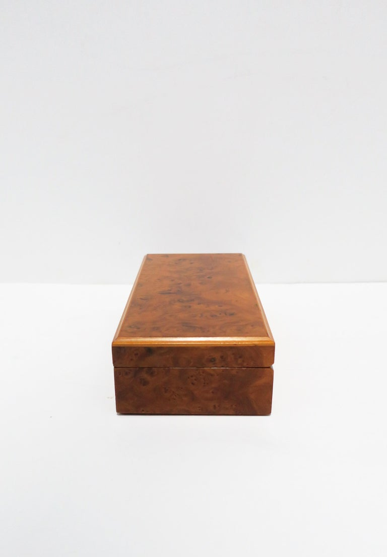 Italian Burl Wood Jewelry Box For Sale 9