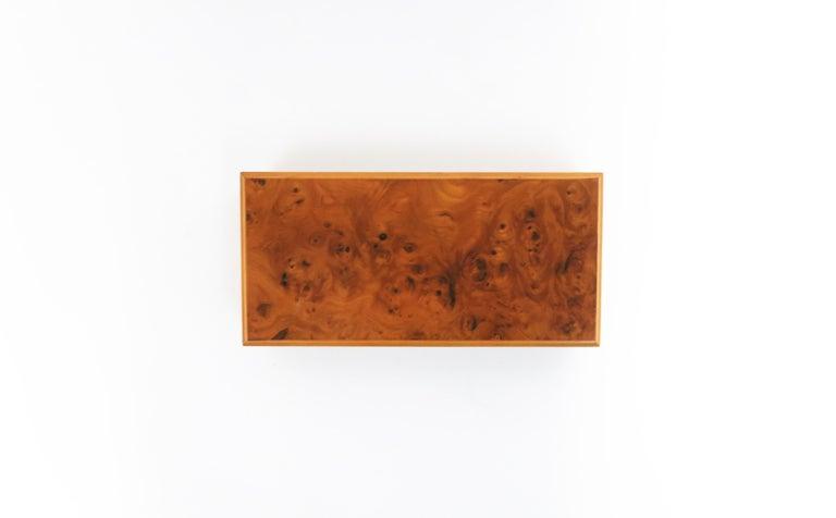 Italian Burl Wood Jewelry Box For Sale 12