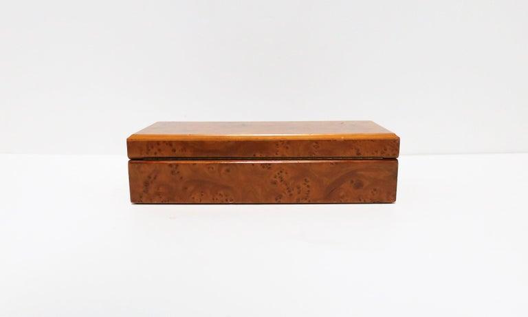 Italian Burl Wood Jewelry Box For Sale 13