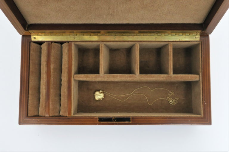 Italian Burl Wood Jewelry Box For Sale 1