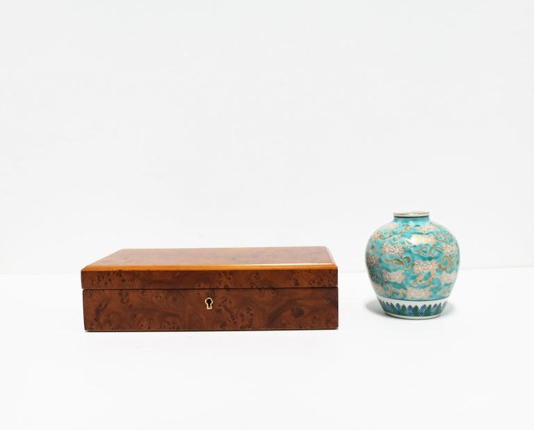 Italian Burl Wood Jewelry Box For Sale 2