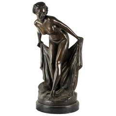 Italian Burnished Bronze Sculpture, Nude Venus, Italy, 19th Century