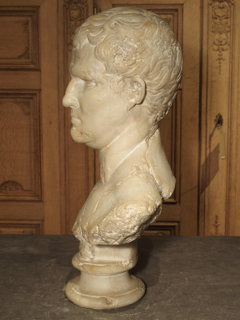 Italian Bust of Marcus Vipsanius Agrippa For Sale 3