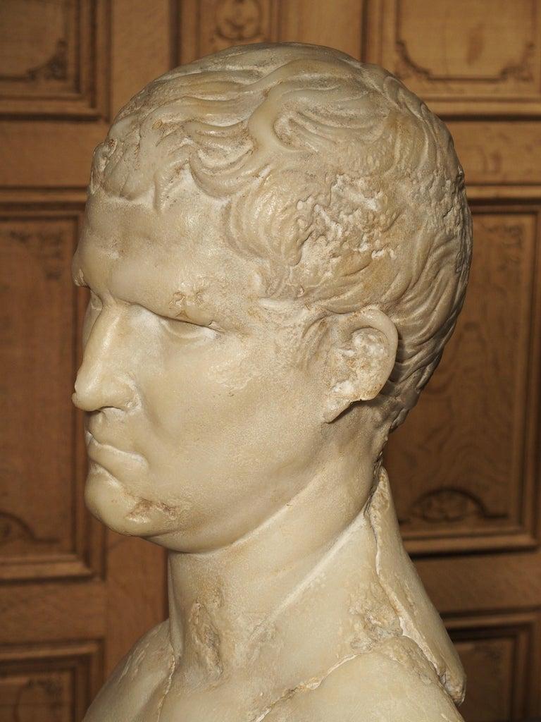 Italian Bust of Marcus Vipsanius Agrippa For Sale 5