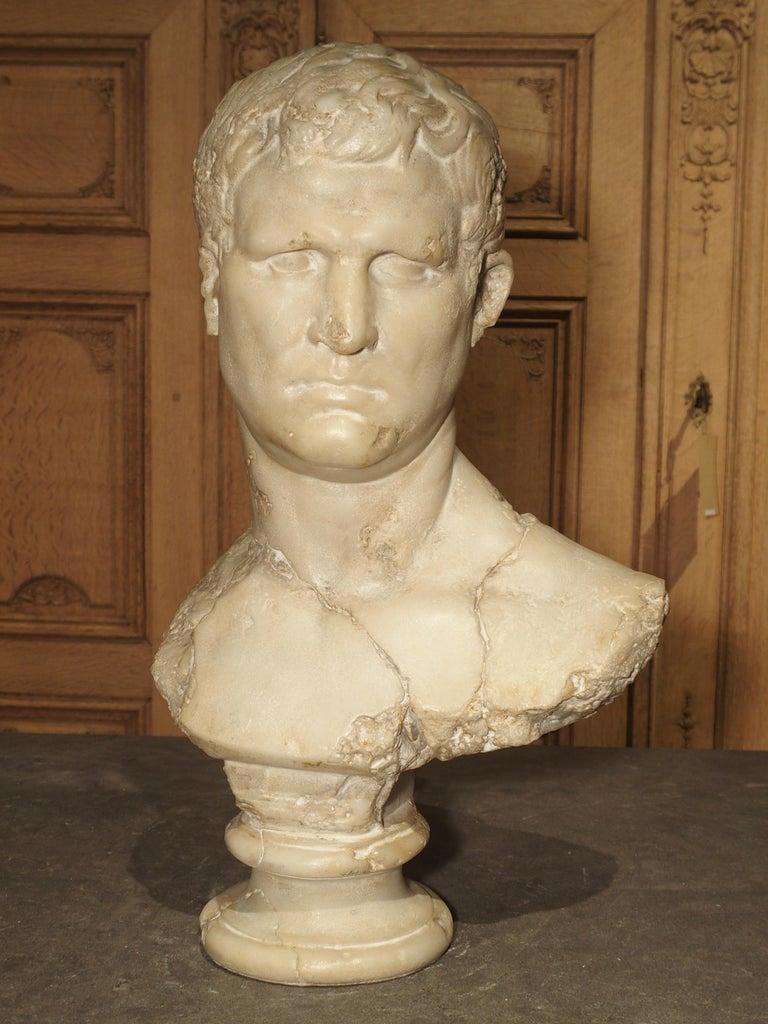 Italian Bust of Marcus Vipsanius Agrippa For Sale 1