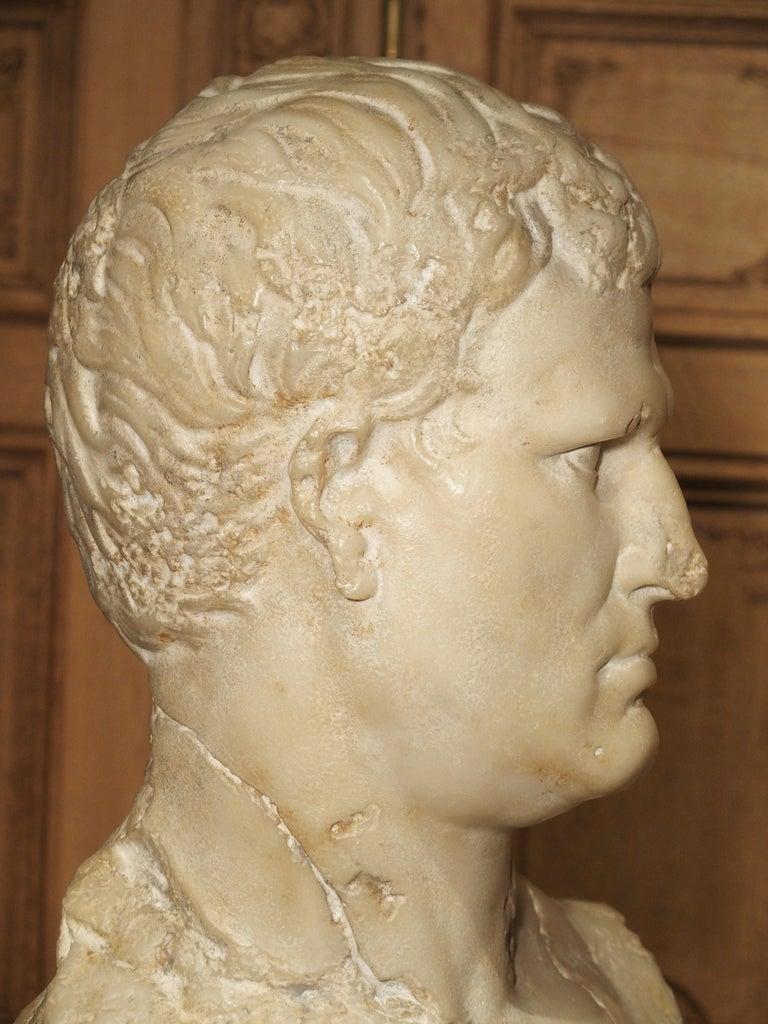 Italian Bust of Marcus Vipsanius Agrippa For Sale 2