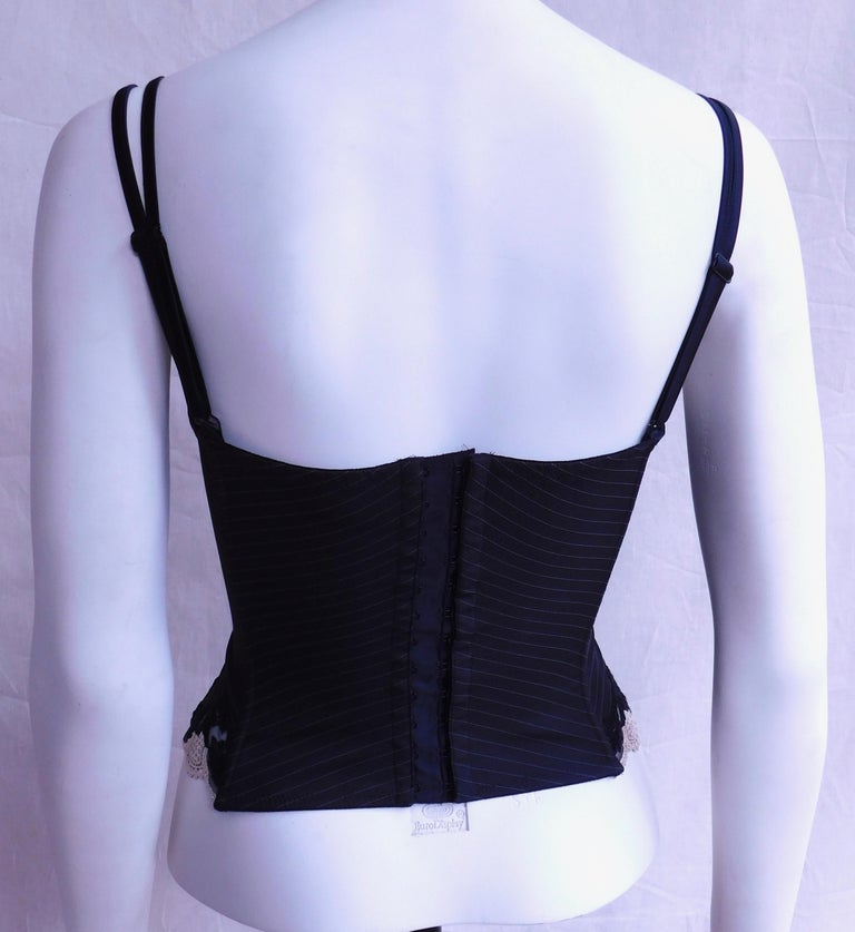 Founded in 1954, Argentovivo is one of Italy's finest designer lingerie and clothing brands and epitomizes Old Hollywood glamor and feminine elegance.  This bustier is perfect to wear under a jacket or suit for a chic and sexy evening look. The