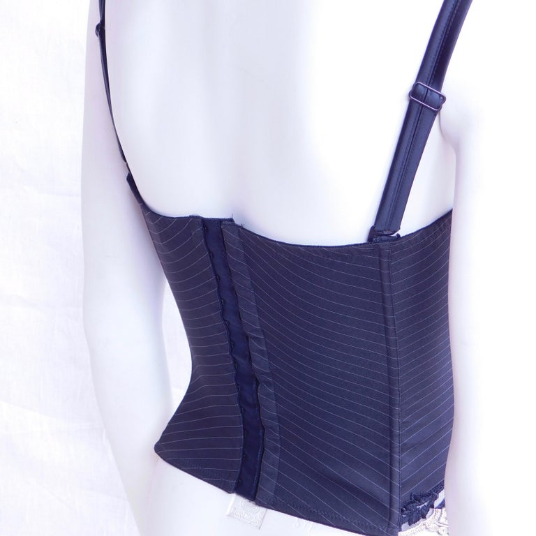 Gray Italian Bustier by Argentovivo For Sale