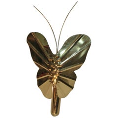 Italian Butterfly Brass Sconce, circa 1960