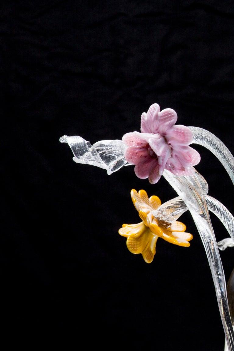 Italian Ca' Rezzonico Murano Glass Chandelier from Venetia by G. Ferro, 1950 For Sale 8