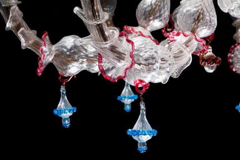 Italian Ca' Rezzonico Murano Glass Chandelier from Venetia by G. Ferro, 1950 For Sale 3