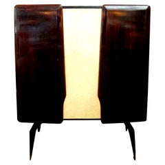 Italian Cabinet or Bar Attributed to Vittorio Dassi, Made in Milan