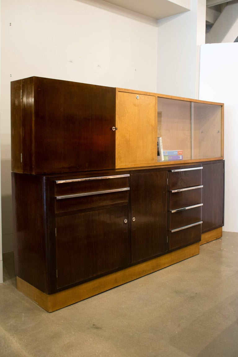 Italian Art Deco Cabinet of Birch and Rosewood, 1930-1940 For Sale 1
