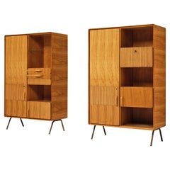 Italian Cabinets in Cherry and Brass