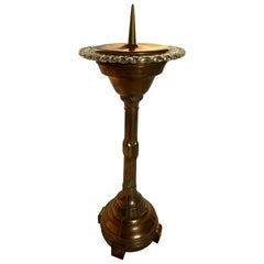 Italian Candleholder in Copper and Murano Glass by Ercole Barovier, 1940