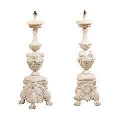 Italian Candlestick Floor Lamps, 19th Century