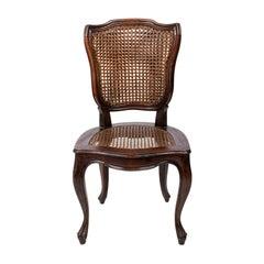 Italian Cane Back Side Chair