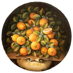 Italian Canvas Depicting Lemons by Francesco Maffei