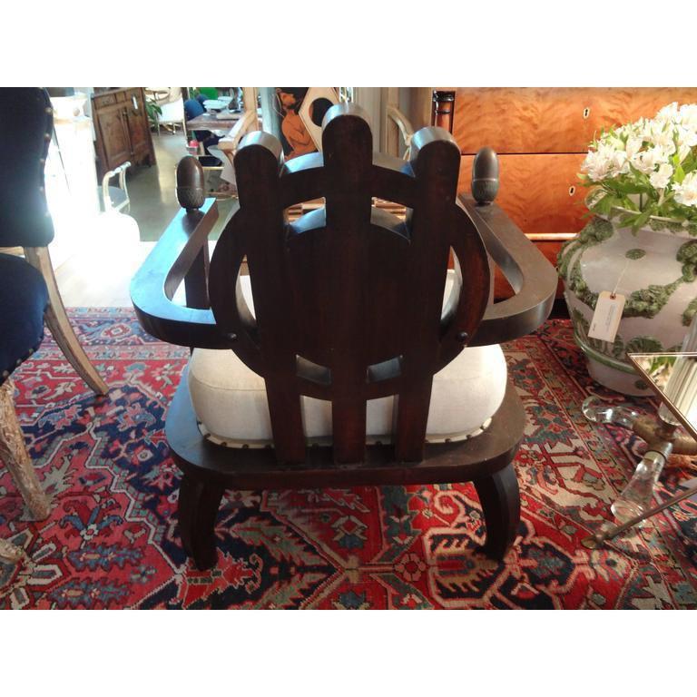 Italian Carlo Bugatti Inspired Lounge Chair Designed by Ettore Zaccari In Good Condition For Sale In Houston, TX