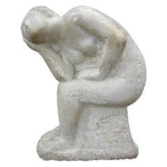 Italian Carrara Marble Sculpture, circa 1940