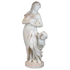 Italian Marble Statue Sculpture by Romanelli