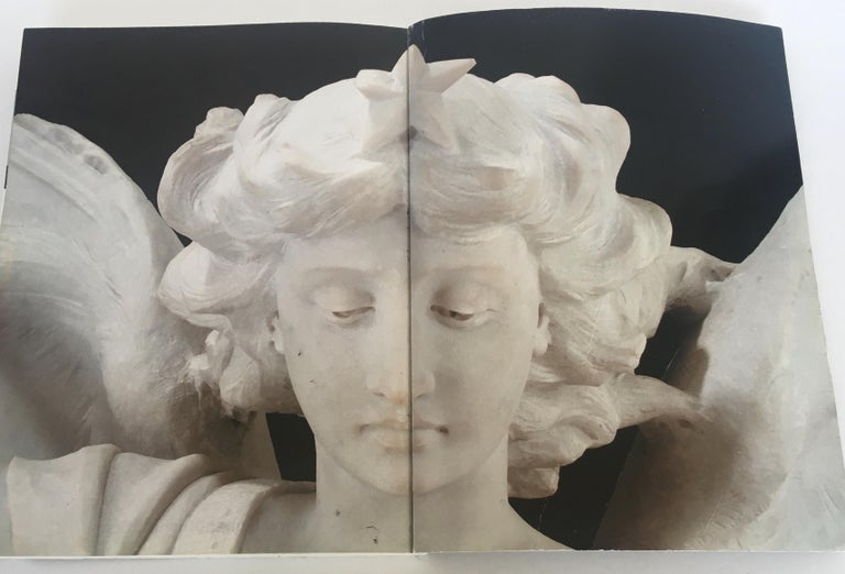 Italian Carrara Marble Winged Angel, circa 19th Century For Sale 5