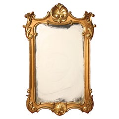 Italian Carved and Gilded Mirror, 20th Century