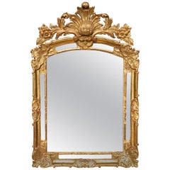 Italian Carved and Gilt Console Mirror