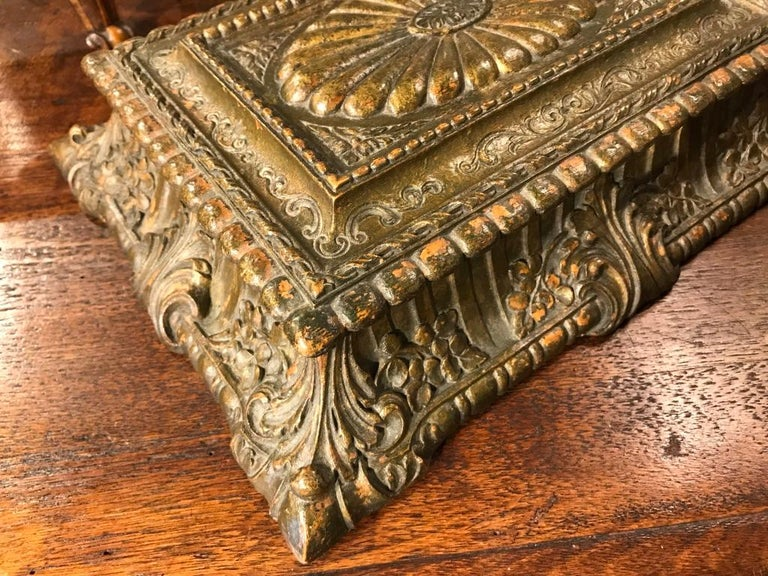 Baroque Italian Carved and Giltwood Box For Sale