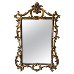 Italian Carved and Gilt Wood Mirror