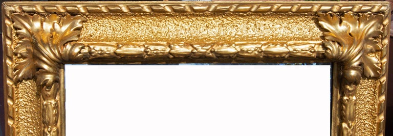 19th century Italian Baroque style carved and gilt picture frame. Bold carving with rich and heavy gilding. Exterior 39
