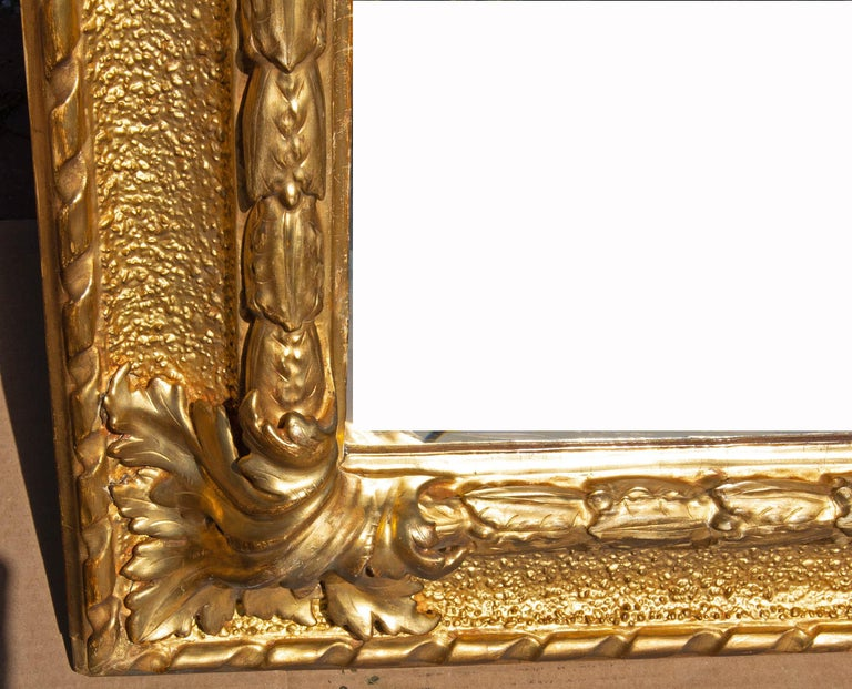 European Italian Carved and Gold Gilt Baroque Picture Frame For Sale