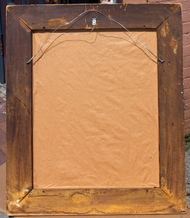 Italian Carved and Gold Gilt Baroque Picture Frame In Good Condition For Sale In Rochester, NY