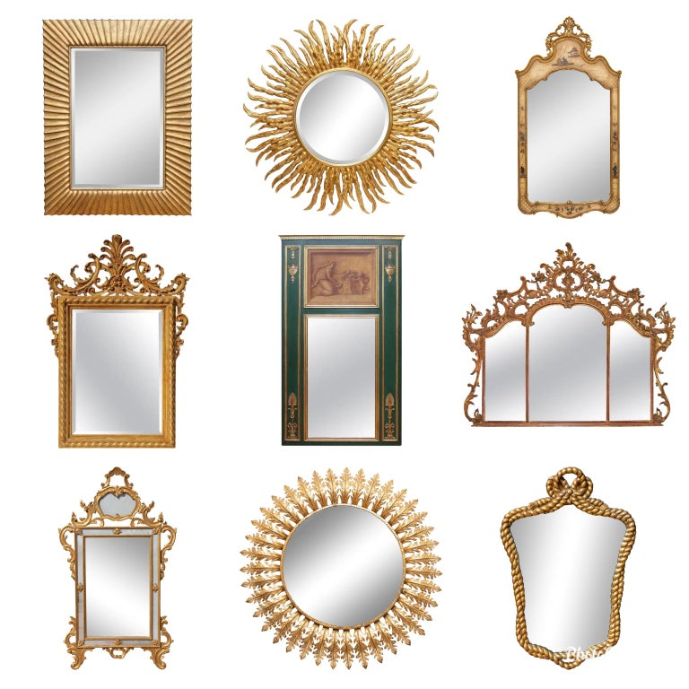 19th Century Italian Carved and Gold Gilt Baroque Picture Frame For Sale