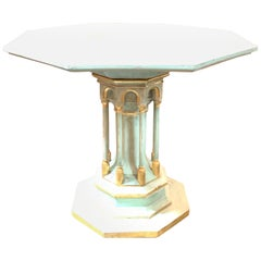 Italian Carved and Parcel-Gilt Colosseum Occassional Table
