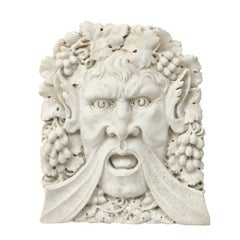 Italian Carved Carrara Marble Relief of Bacchus, 19th Century