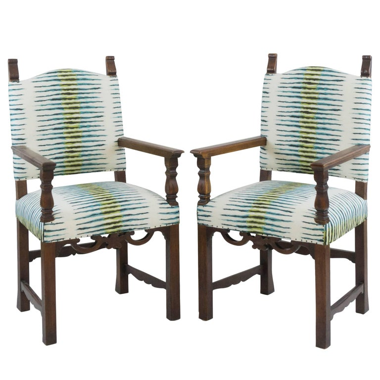 Italian Carved Chairs (Pair)