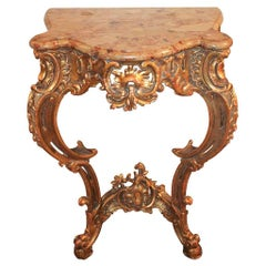Italian Carved Giltwood Console Table