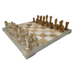 Italian Carved Marble Chess Set