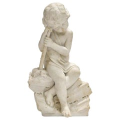 Italian Carved Marble Sculpture of a Child, 19th Century