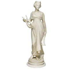 Italian Carved Marble Sculpture of a Maiden, 19th Century