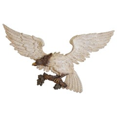 Italian Carved, Parcel-Gilt, and Painted Aquila 'Eagle', Mid-19th Century